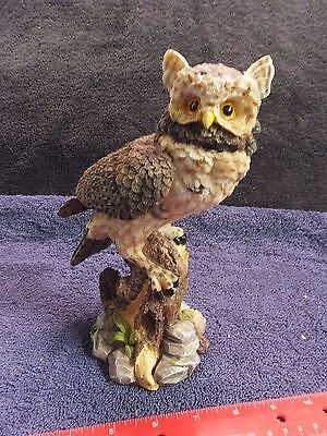 horn owl figurine statue 8-1/4 inches Tall