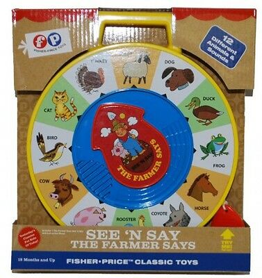 Fisher Price Classic Farmer Says See 'n Say, New, Free Shipping