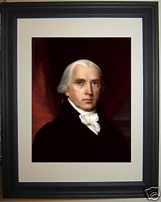 James Madison Founding Fathers Portrait Framed Matted Photo Photograph Picture