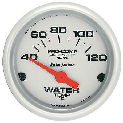 Auto Meter Water Temperature Pro Comp Ultra-Lite Air Core Movement Gauge 4337