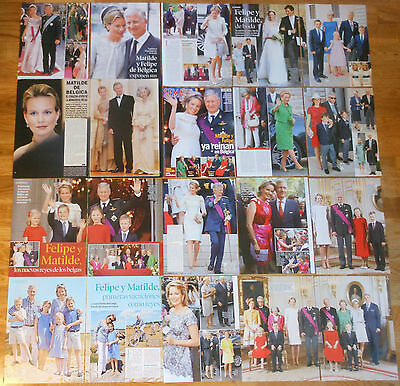 QUEEN MATHILDE & KING PHILIPPE BELGIUM clippings photos magazine Royalty