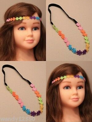 Pack Of 6 Child's Daisy Chain Brow Bands, Bandeaux, Headband, Hair Sp-5973 Pk6