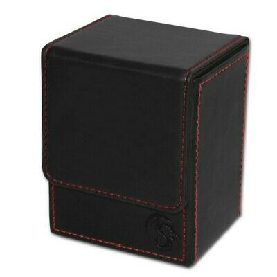 BCW Black Deck Case LX Gaming Card Leatherette Magic the Gathering Storage Box