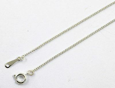 """A Pack of 18"""" Silver Plated Very Fine Curb Chains.  w1399"""