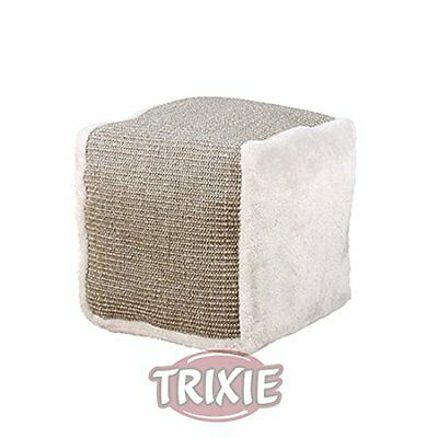 Cat Cube | Sisal And Plush Large Cat Kitten Play Cube Grey 30 cm