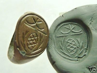 Ancient post-medieval bronze seal-ring (483).