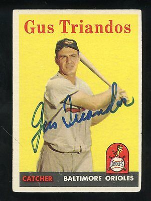 1958 Topps #429 Gus Triandos Orioles Signed AUTO JSA Sticker Only