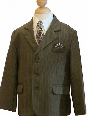 Boys Wedding, Recital, Party, Formal Suit Set, Olive Green,  Size: 2T, 4
