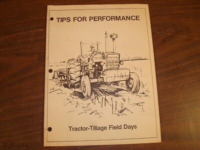 Old Ford Tractor Performance Sales Brochure Manual Catalog Cf1936