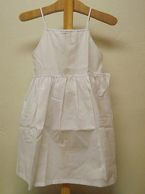 New Toddler Girls White Cotton Full Length Slip Petticoat Sizes 18M 2T 3T 4T 5 6