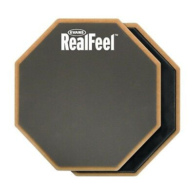 HQ Percussion RealFeel 2-Sided Speed and Workout Drum Pad Gray 12 in.