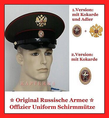☆ Original Russische Armee Offizier Uniform Schirmmütze ☆