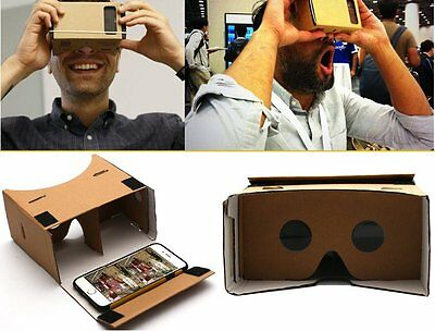 Cardboard Quality 3d VR Virtual Reality Glasses For iPHone Google Nexus Samsung