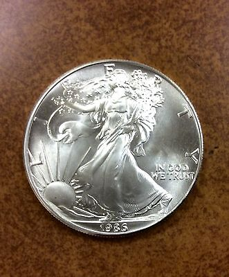 {BJSTAMPS}  1986 BU AMERICAN SILVER EAGLE  VERY NICE COIN   1st year of series