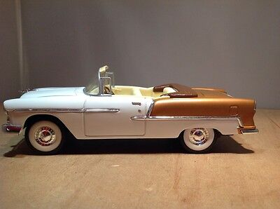 CHEVROLET 1955 CONVERTIBLE DIE CAST COIN BANK by LIBERTY #59020 Scale 1:24