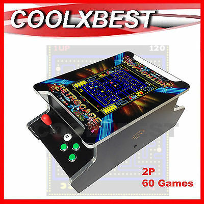 "NEW RETROCADE TABLE TOP ARCADE GAME MACHINE CLASSIC VIDEO 60 In 1 JAMMA 15"" TFT"