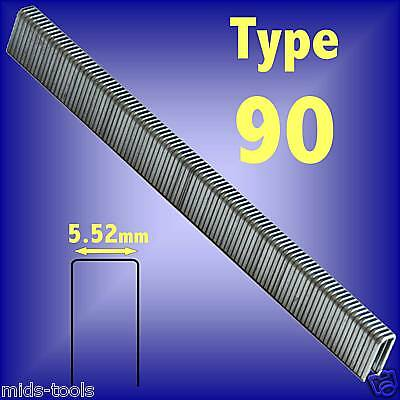 25mm TYPE 90 SERIES STAPLES 5000pk stapler nails
