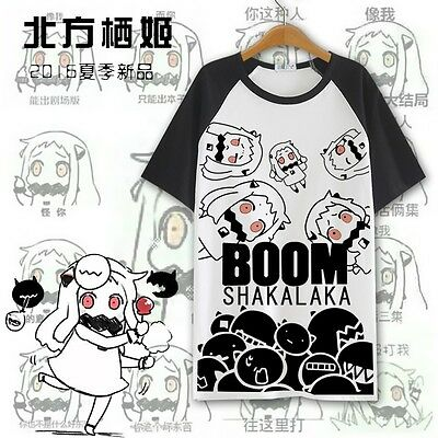 Anime Kantai Collection Northhime T-shirt Unisex Casual Sport Short Sleeve Tee