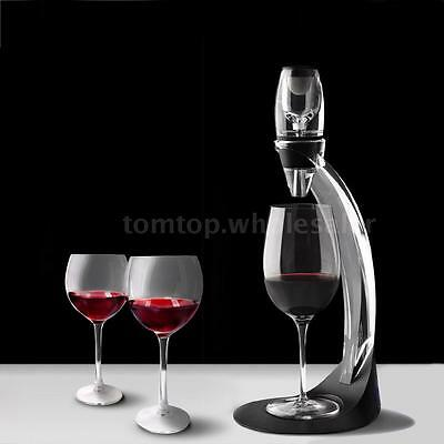 Wine Decanter Set Essential Red Wine Quick Aerator with Filter Stand Holder M7Q0