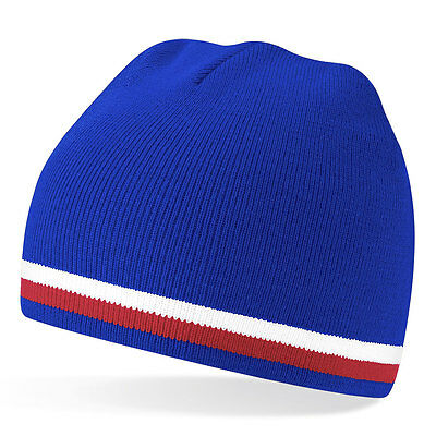 Woolly Beanie Hat In Iceland Icelandic Football Kit Team Colours - One Size