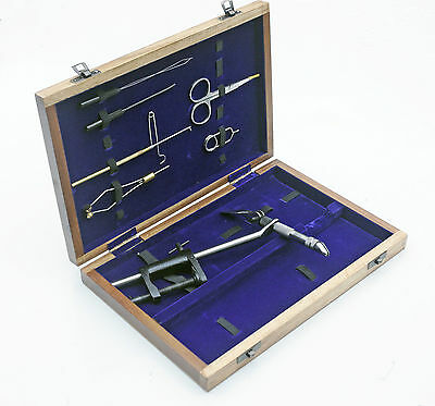 MP Deluxe Fly Tying tool Kit in wooden case- Trout/Game Fishing  FA105