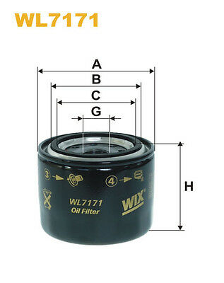 WIX WL7171 Car Oil Filter - Spin-On Replaces W71218 PH6811 AW100