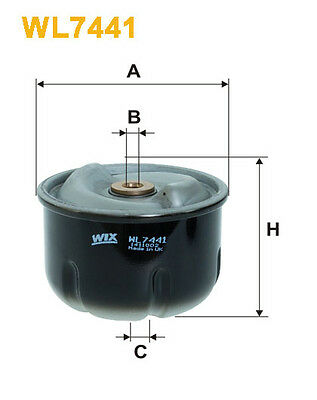 WIX WL7441 Car Oil Filter rotor for Oil centrifuge Replaces ZR7001 P10291 OZ6