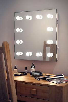 Diamond X Wallmount Hollywood Makeup Mirror with Warm White Dimmable LED k411WW