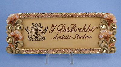 G. DeBrekht Dealer Logo Plaque Sign with Stand