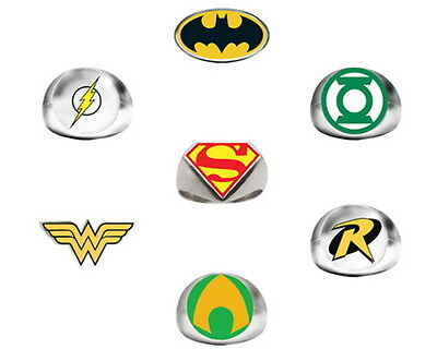 Lot Of 24 Dc Comics Rings 2 Dozen Batman Vs Superman Wonder Woman Robin Flash