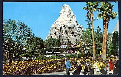 1960s DISNEYLAND TOMORROWLAND MATTERHORN RIDE ATTRACTION~VINTAGE UNUSED POSTCARD