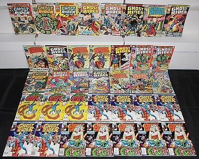Vintage Marvel Bronze Age GHOST RIDER Vol. 2 36pc Mid Grade Comic Lot Romita