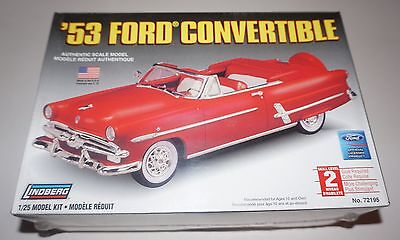 1953 Ford Convertible Lindberg 1/25 Factory Sealed.