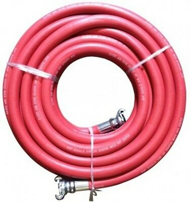 "JGB Eagle Red Jackhammer Rubber Air Hose, 3/4"" Universal (Chicago) Couplings,"