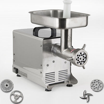 #12 Electric Meat Grinder 550W Commercial-Grade Stainless Steel (1-HP) w/3 Blade