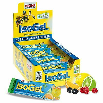 High5 IsoGel Plus Caffeine/Energy Gel - Pack of 20 x 60ml Sachets - Cycling/Gym