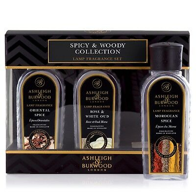 Ashleigh and Burwood Lamp Fragrance Spicy and Woody Oil Collection Box Gift Set