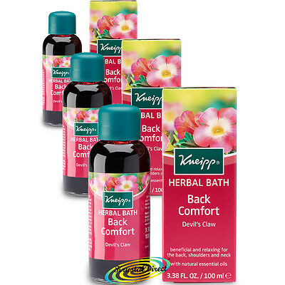 3x Kneipp Herbal Bath Oil Back Comfort DEVIL`S CLAW 100ml
