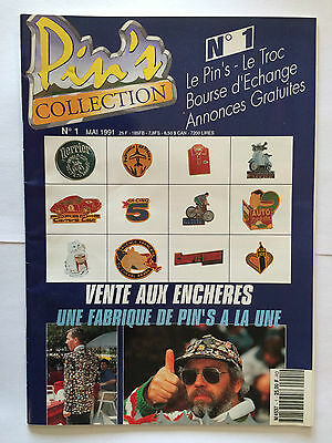 Pin's Collection N°1 Mai 1991 Illustre