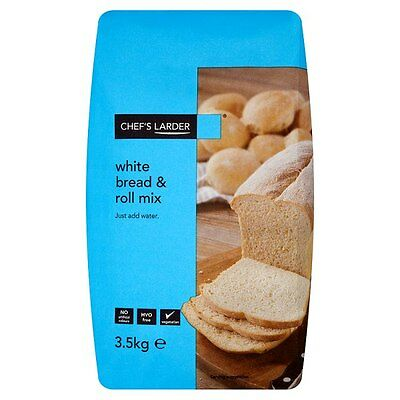 Catering Size White Bread & Roll Mix 3.5kg Baking Bread Making Just Add Water