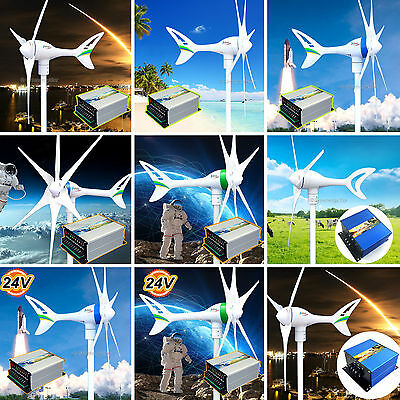 Pick One 12/24 V AC 550 650 800 1000 Watt Wind Turbine Generator+Controller