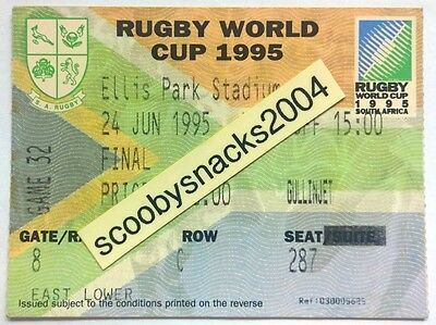 1995 RWC Ticket - Final - South Africa v New Zealand