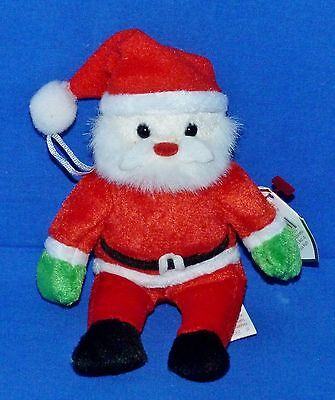 "Ty SANTA Clause (w/Red Suit) (5"") (Jingle Beanie) 2001 Boys Girls 3+ MWMT"
