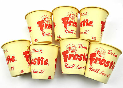 Set mit 7 Frostie Root Beer USA Papp-Becher - Lot of 7 Cups