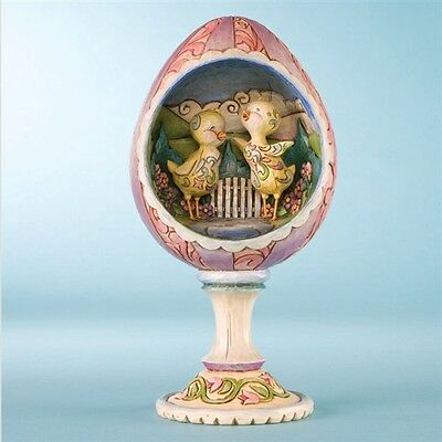 Jim Shore Heartwood Creek Easter Chicks in Egg Diorama Figurine ~ 4009253