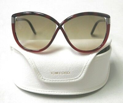 2611c3254b0 Tom Ford Authentic Sunglasses Abbey TF327 TF 327 52F Dark Red Brown NEW!  30317