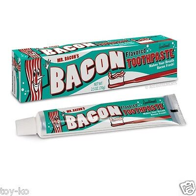 Sizzin' Bacon Flavored Toothpaste!