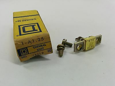 Square D A1.25 Overload Relay Thermal Unit A 1.25 Nib