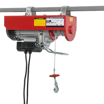 2000LB Capacity Electric Hoist Motor Overhead Winch Crane Lift w/ Remote Control