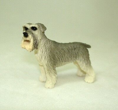 Dollhouse Miniature Schnauzer Pet Dog 1:12 Scale Miniatures for Doll House